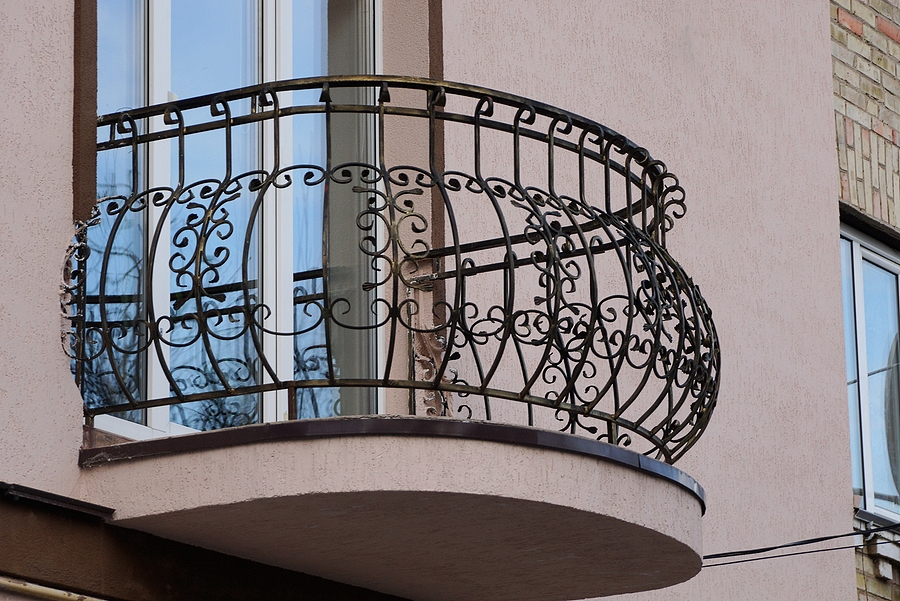 wrought iron bars with pattern