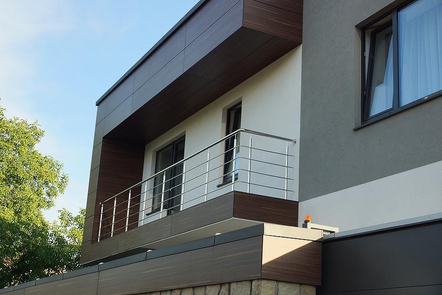 balcony on the facade